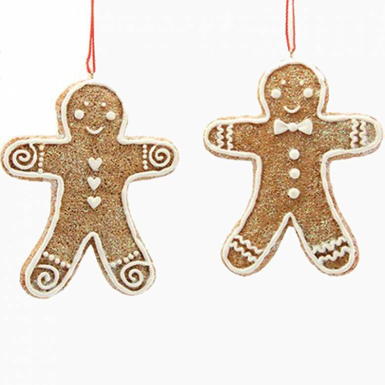 Gingerbread Man Christmas Decoration By Gisela Graham