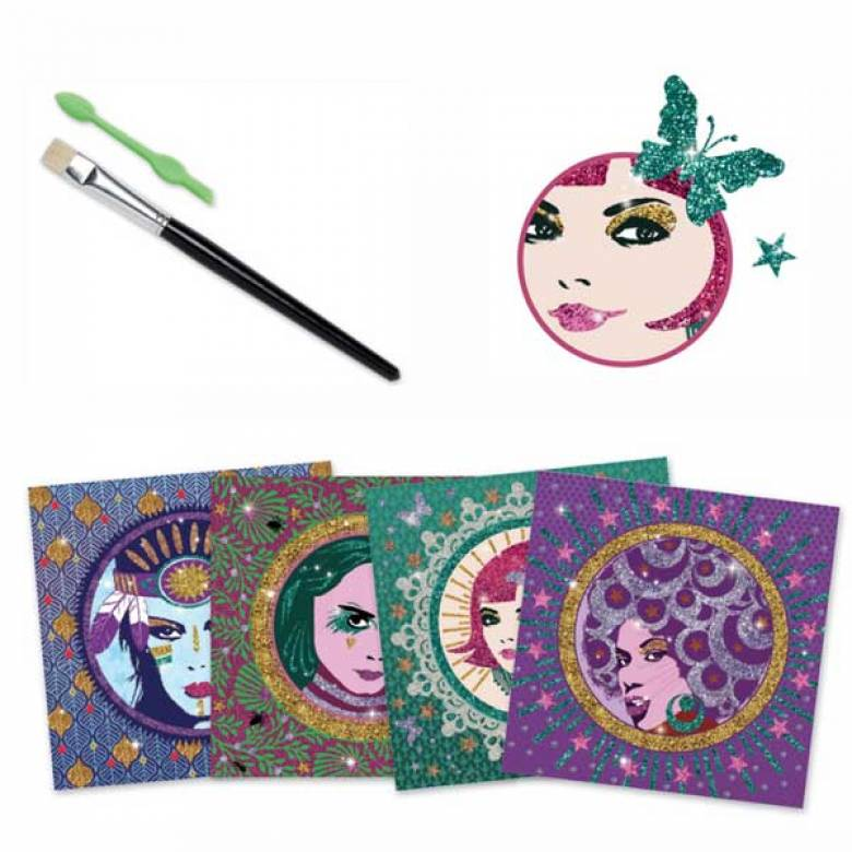 Glitter Boards Cleo Pop and Rock Art Set Djeco 9-15yrs