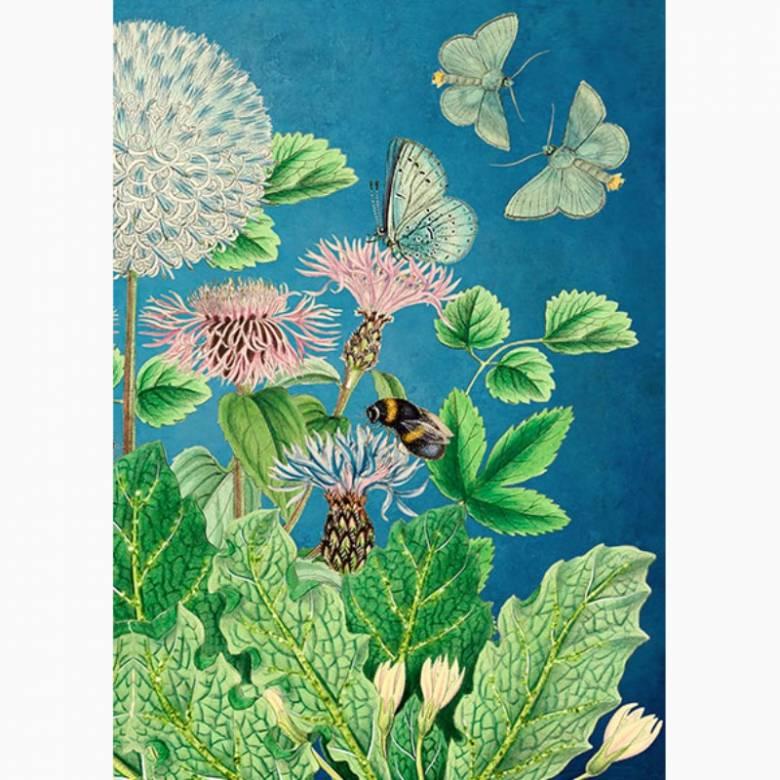 Glitter Pinky's Garden - Greetings Card