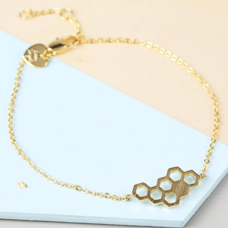 Gold Honeycomb Bracelet