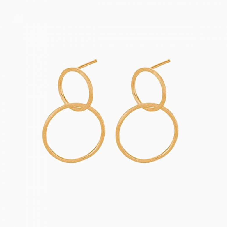 Gold Interlocking Hoop Earrings By Pernille Corydon