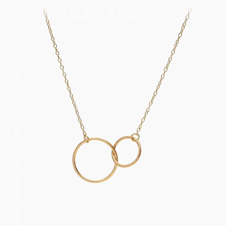 Gold Interlocking Hoop Necklace By Pernille Corydon