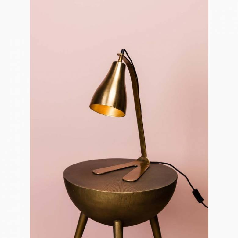 Gold Metal Victor Table Lamp