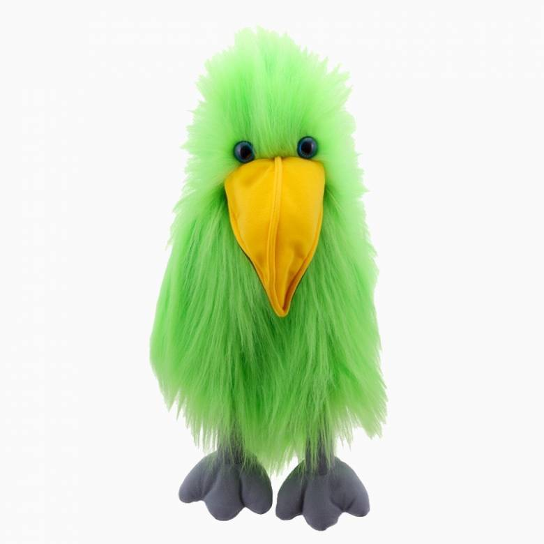 Green Bird Long Sleeved Hand Puppet With Sound 18m+