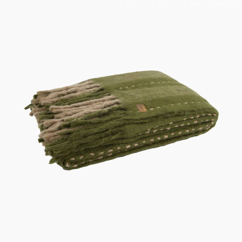 Green Stripe Mohair Blanket