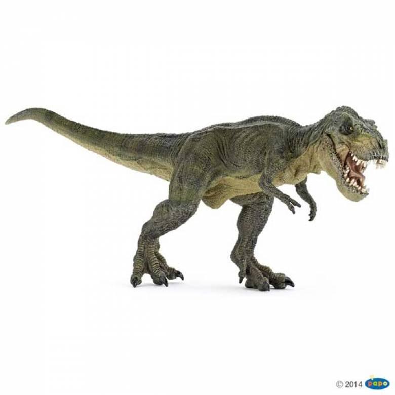 GREEN RUNNING T REX Papo Dinosaur