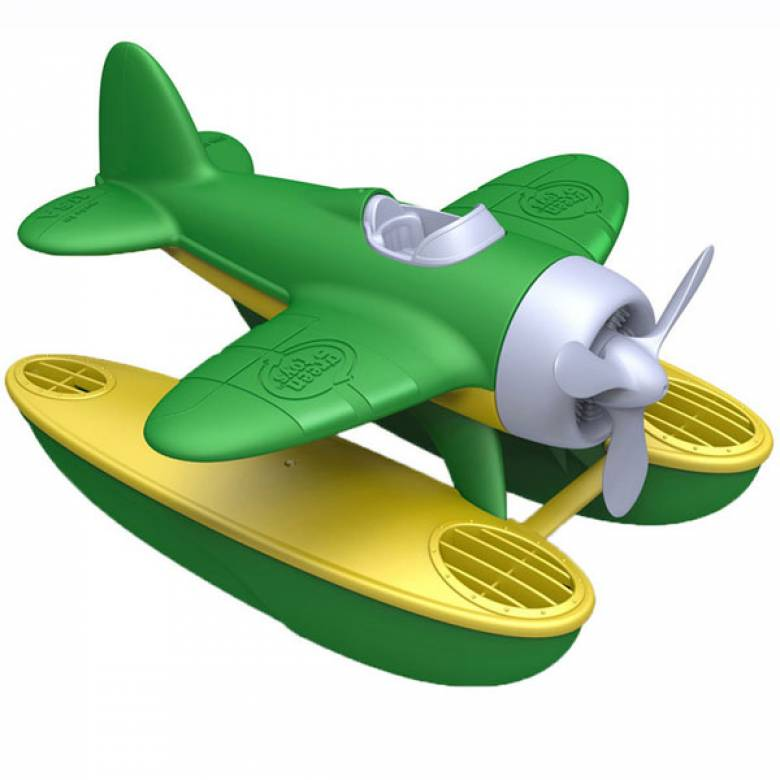 Green Seaplane By Green Toys - Recycled Plastic 1+