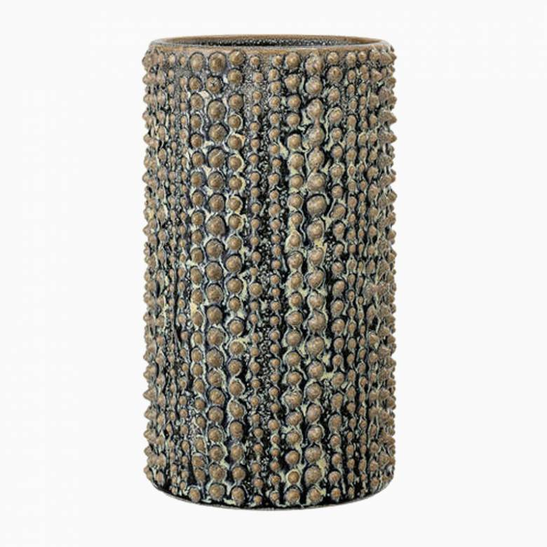 Green Textured Stoneware Vase