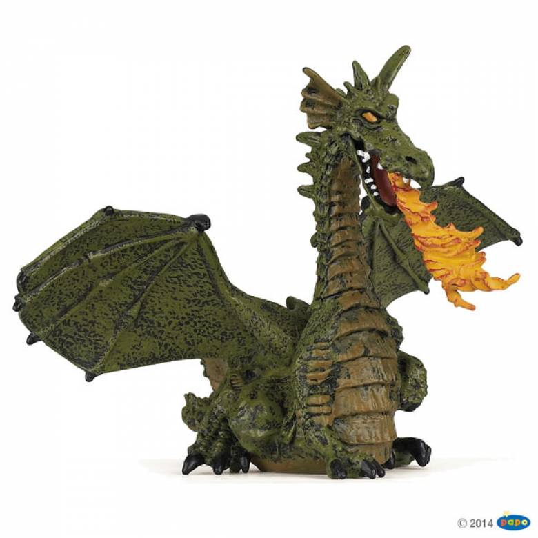 Green Winged Dragon With Flame Papo Fantasy Figure