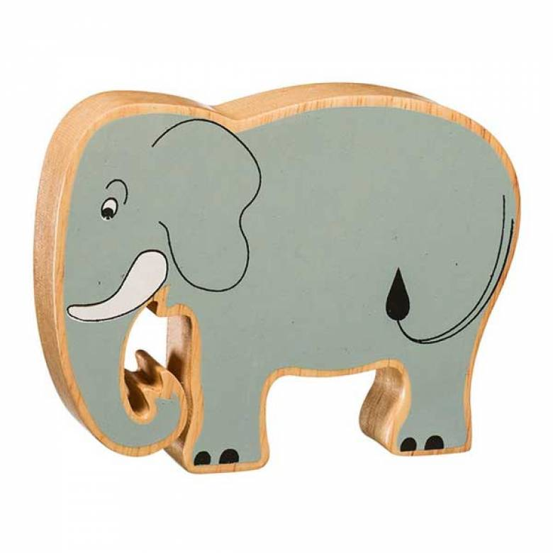 Grey Elephant Wooden Painted Animal Fairtrade Lanka Kade