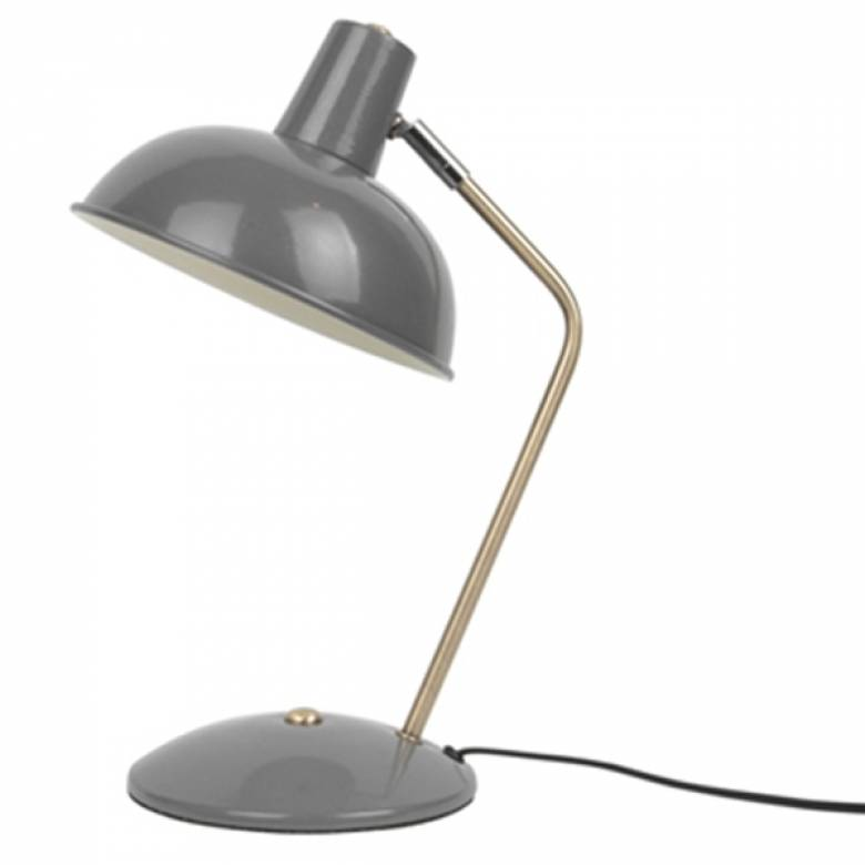 Hood Metal Table Lamp In Matt Mouse Grey