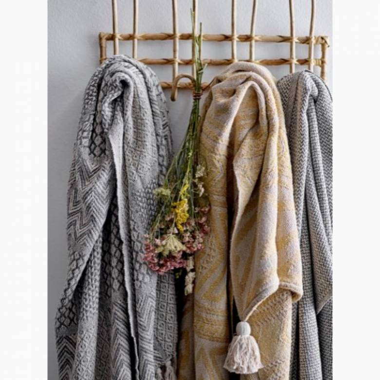 Grey Multi-Patterned Blanket Made From Recycled Cotton