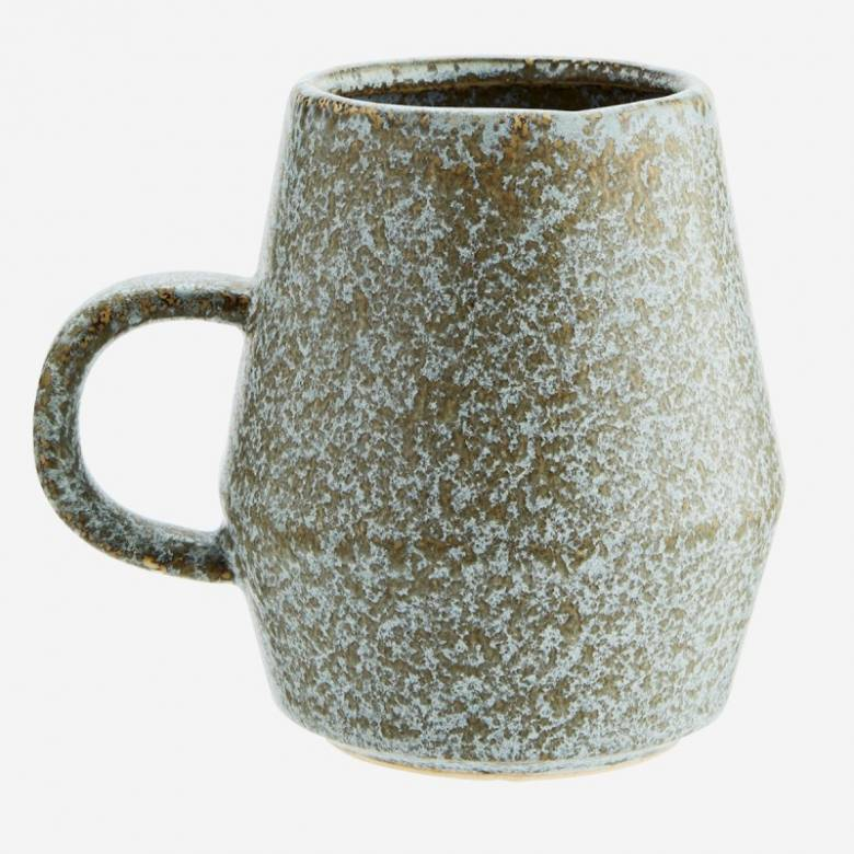 Grey Stoneware Tapered Mug