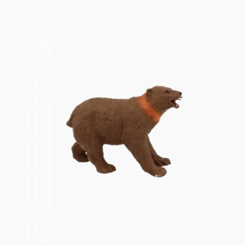 Grizzly Bear Stretchy Beanie Animal Toy 3+