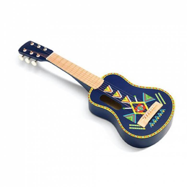 Animambo Blue Wooden Guitar By Djeco