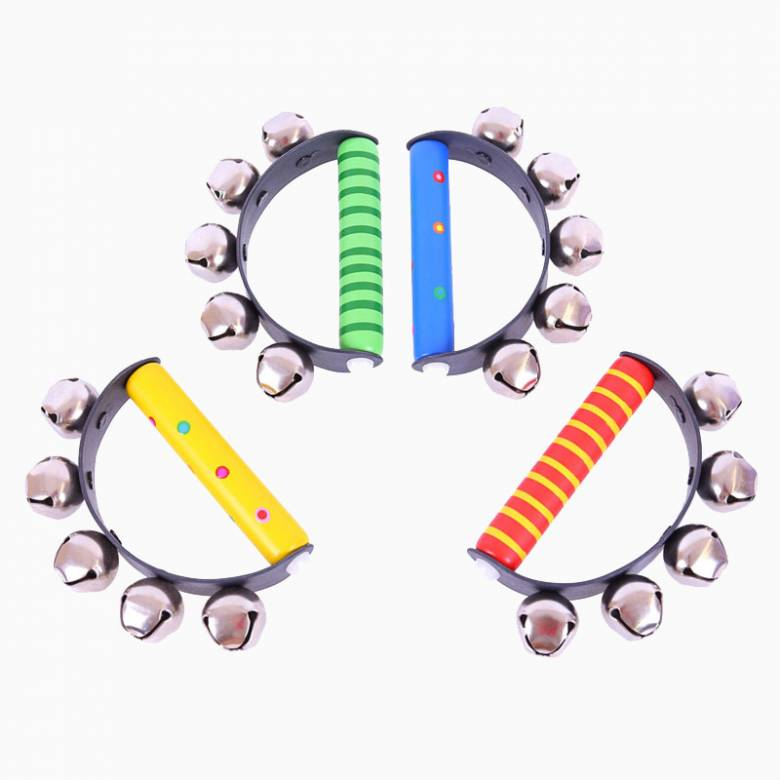 Brightly Coloured Wooden Handbells