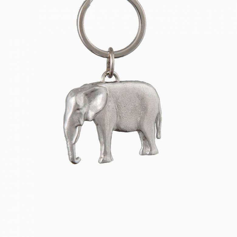 Handmade Fine Cast Pewter Keyring - Elephant