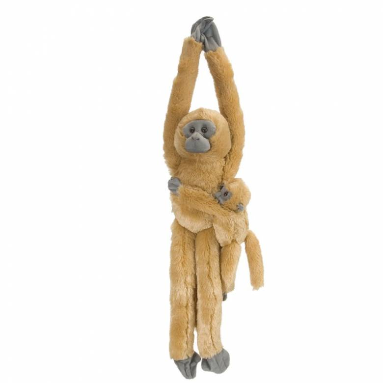 Hanging Langur Monkey With Baby Soft Toy