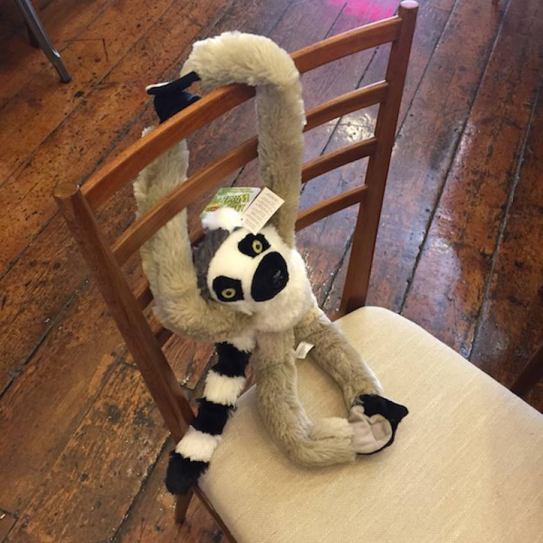 Hanging Ring Tailed Lemur Soft Toy 51cm