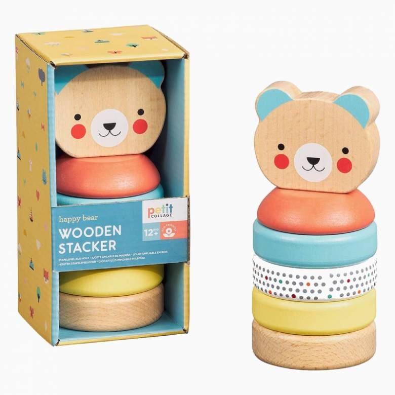 Happy Bear Wooden Stacker Toy 1+