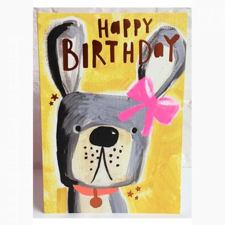 Happy Birthday Dog - Greetings Card