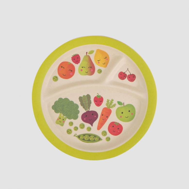Happy Fruit & Veg Children's Plate