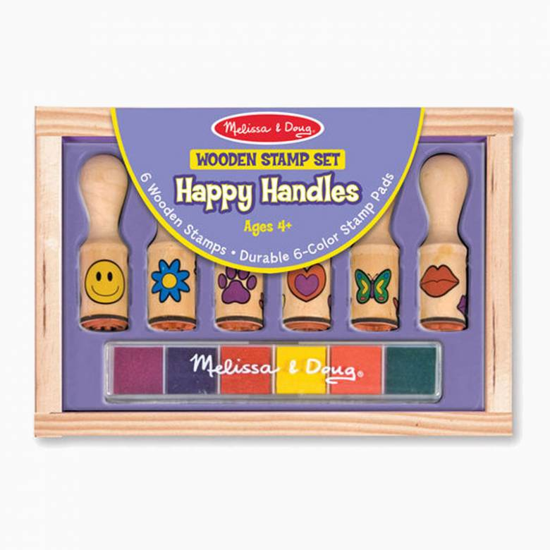 Wooden Stamp Set - Happy Handles 4+