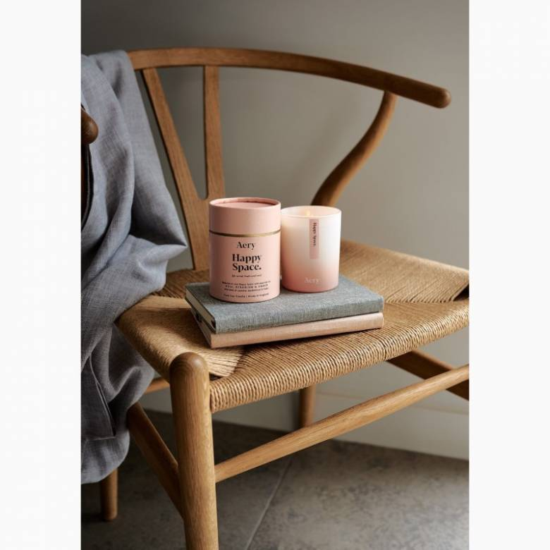 Happy Space Rose & Geranium - Scented Candle By Aery