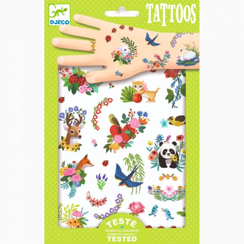 Happy Spring Temporary Tattoo Pack By Djeco 3+