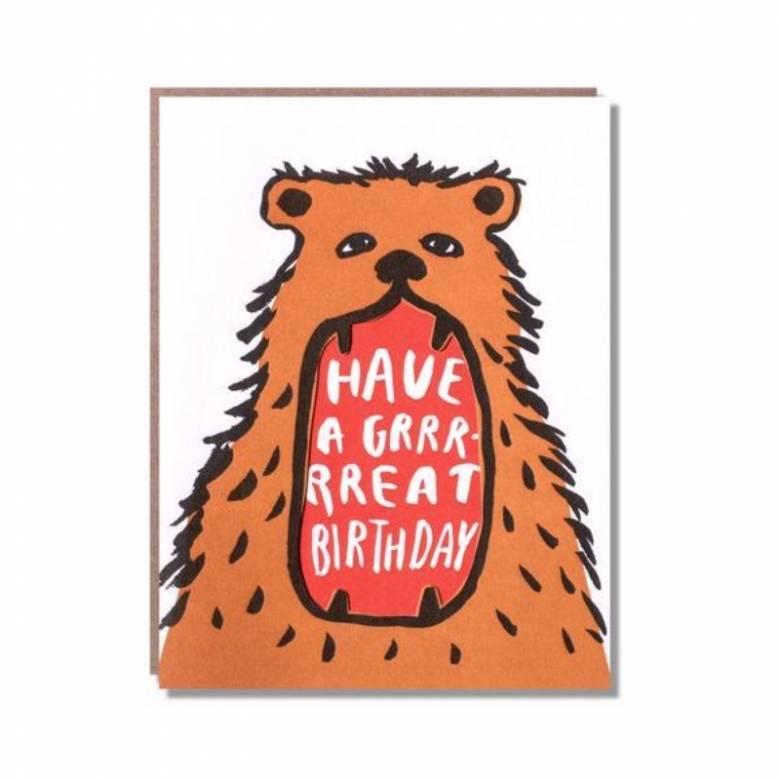 Have A Grrrrreat Birthday - Greetings Card
