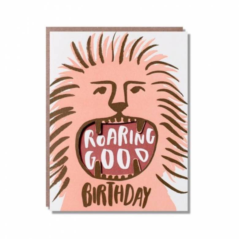 Have A Roaring Good Birthday - Greetings Card