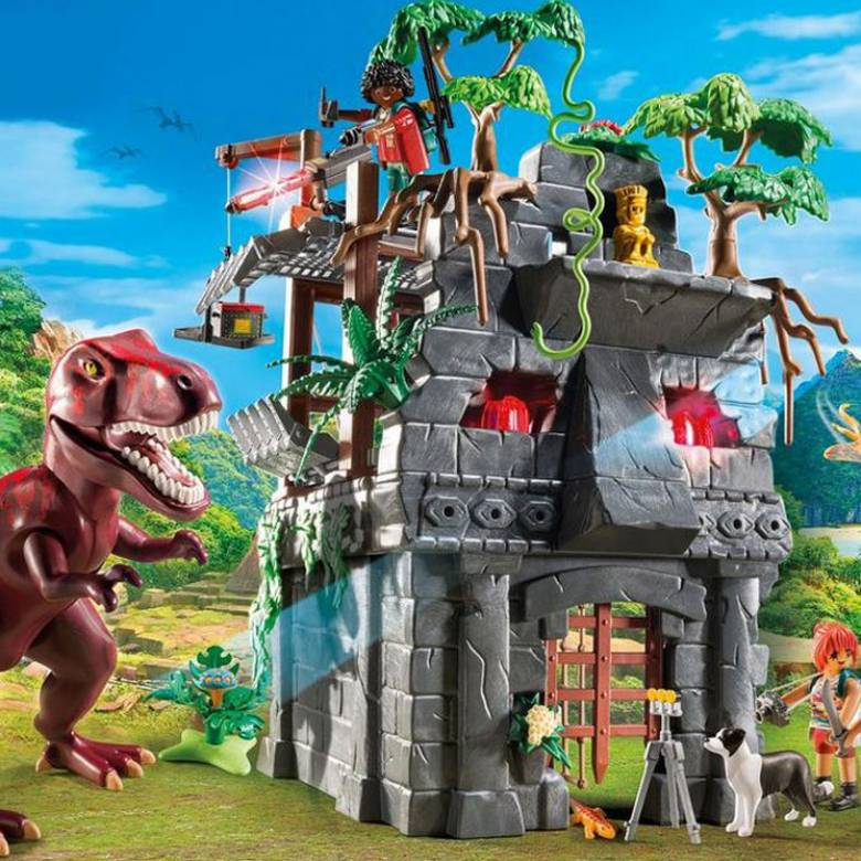 Hidden Temple With T-Rex Playmobil 9429