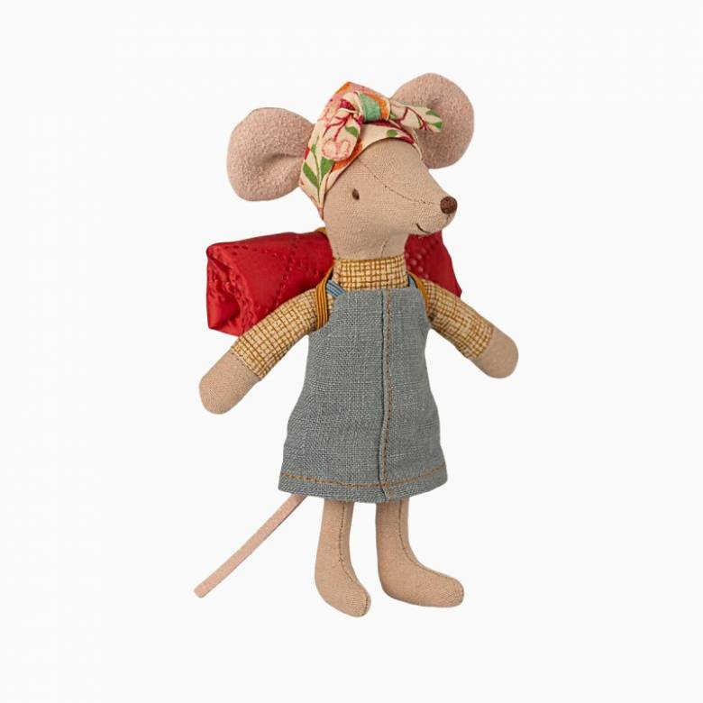 Hiker Mouse Big Sister Soft Toy By Maileg