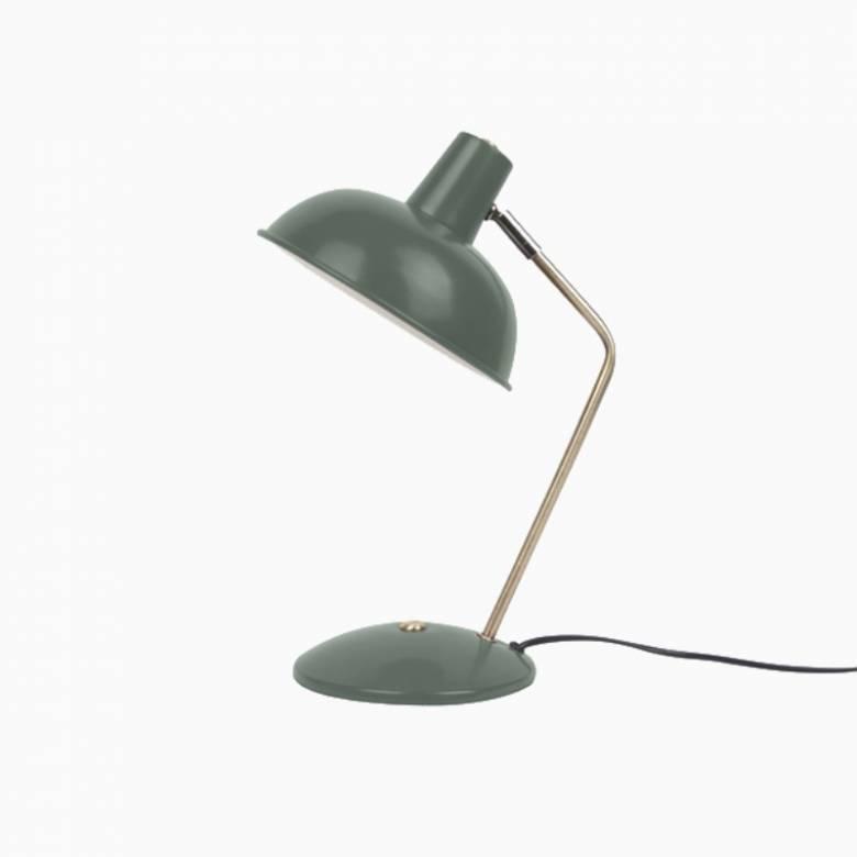 Hood Metal Table Lamp In Matt Dark Green