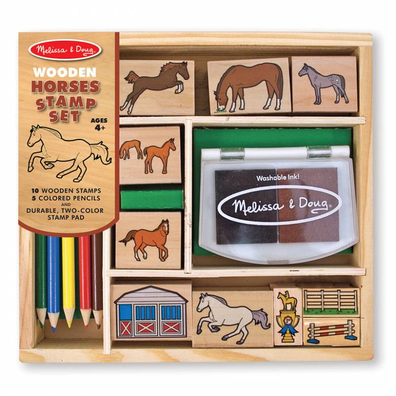 Wooden Stamp Set - Horses 4+