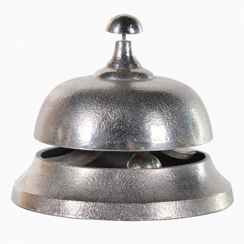 Large Silver Metal Hotel Bell