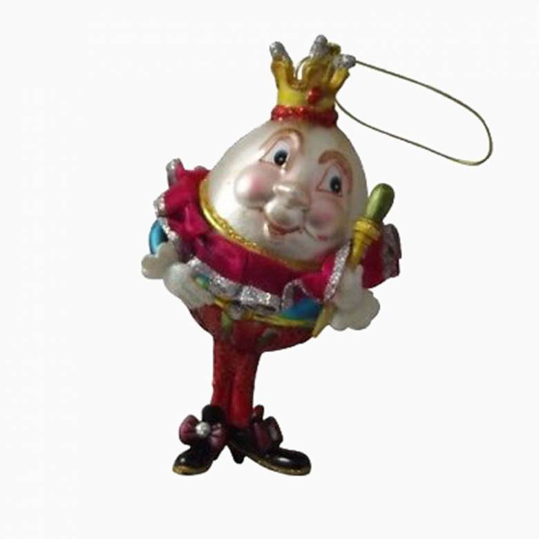 Humpty Dumpty Painted Glass Christmas Decoration