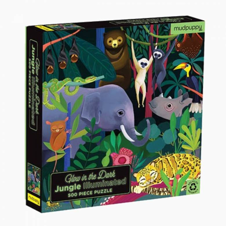 Illuminated Jungle - Glow In The Dark Puzzle 500pc 8+