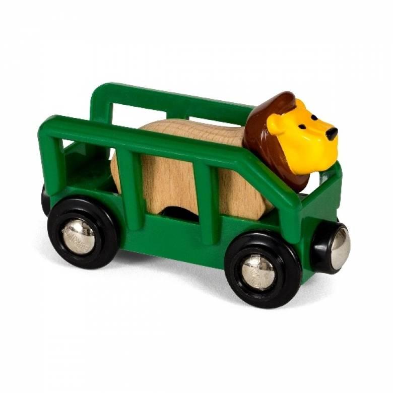 Lion & Wagon BRIO Wooden Railway Age 3+