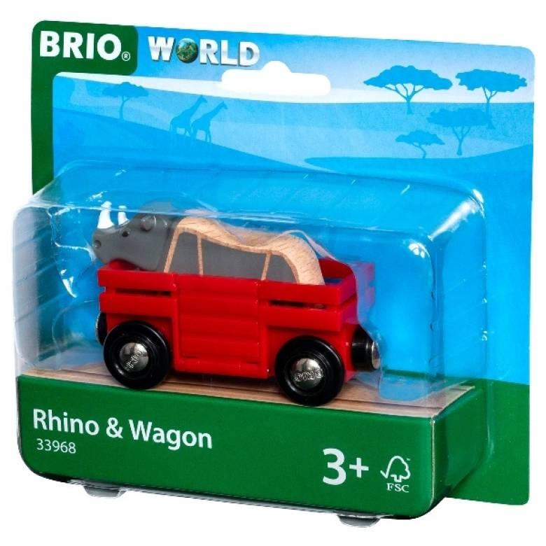 Rhino & Wagon BRIO Wooden Railway Age 3+