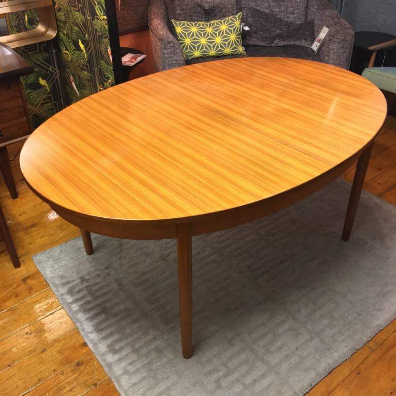 1970s G Plan Fresco Model 4387 Oval Extending Dining Table