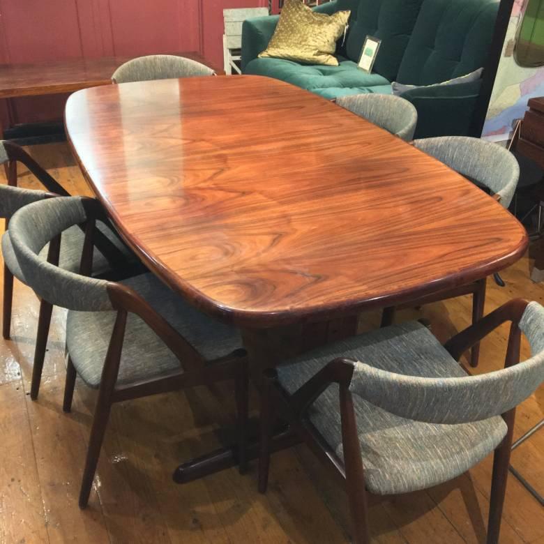 1970s Vintage Danish Rosewood Extending Dining Table By Skovby