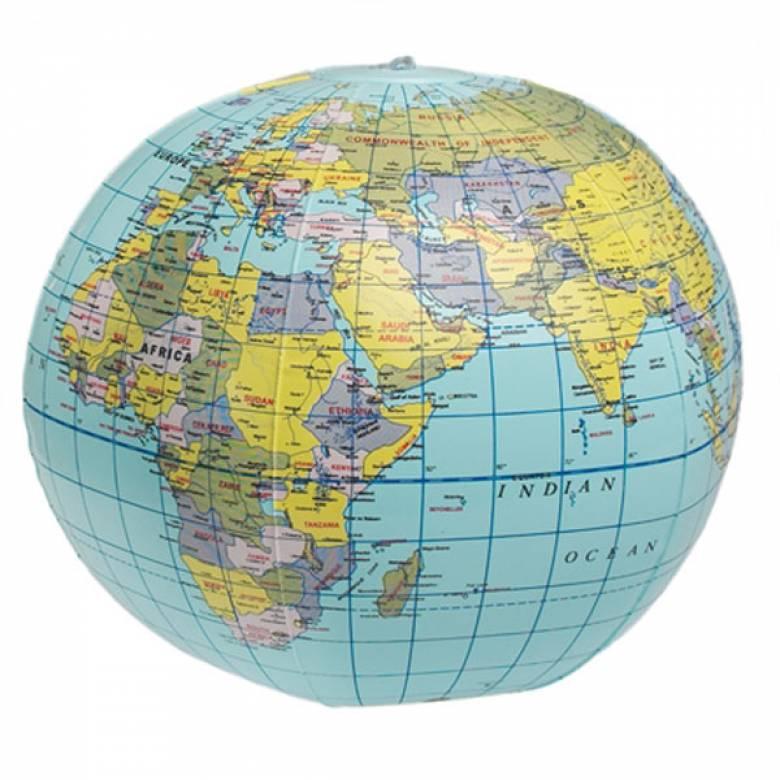 Inflatable World Globe Ball 26cm