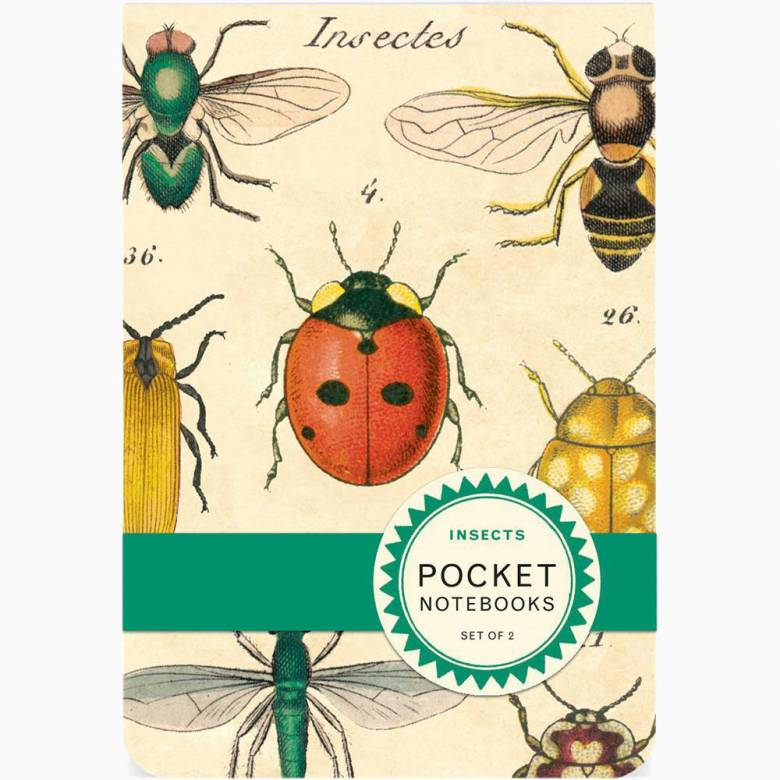 Set Of 2 Pocket Notebooks - Insects