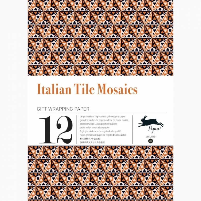 Italian Tile Mosaics - Pepin Book Of Gift Wrap