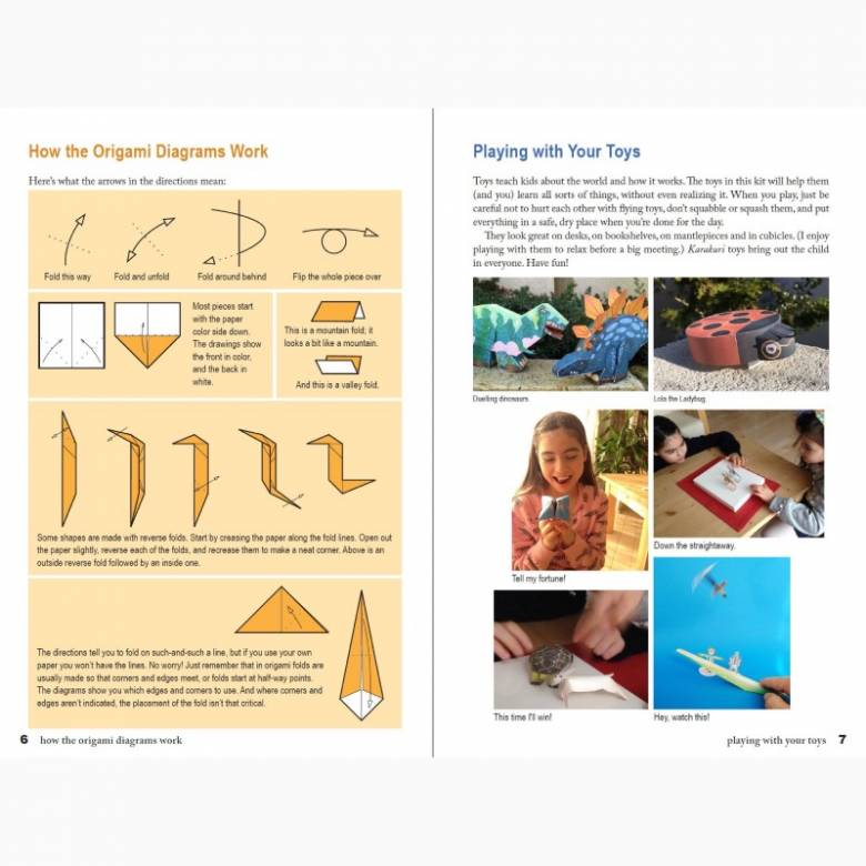 Japanese Origami Paper Toys Kit