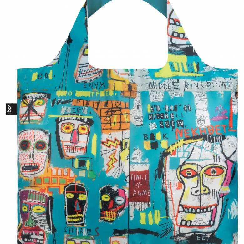 Jean Michel Basquiat Skull Bag - Reusable Tote Bag With Pouch