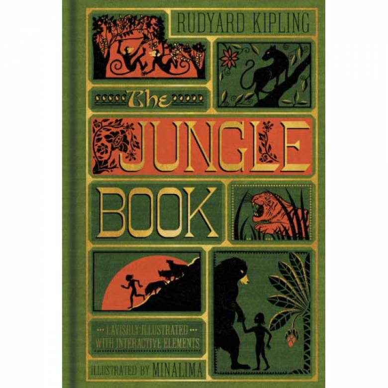 The Jungle Book By Rudyard Kipling Illustrated Hardback Book