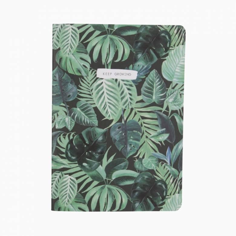 Jungle Leaf Print A5 Notebook