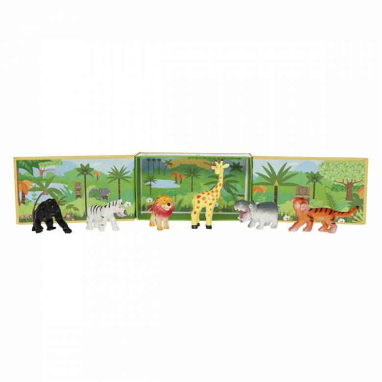 Jungle Tribe Boxed Set of 6 Animals 3+